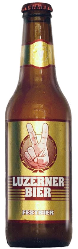 Bier Flasche Festbier der Brauerei Luzerner Bier