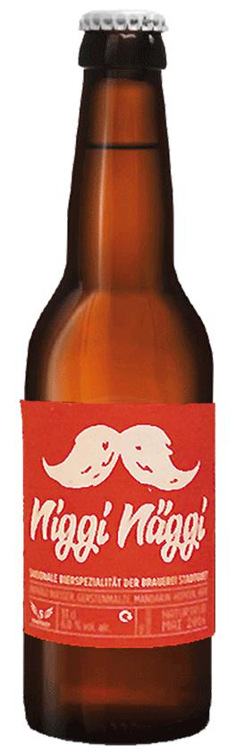 Bier Flasche Niggi Näggi der Brauerei Stadtguet