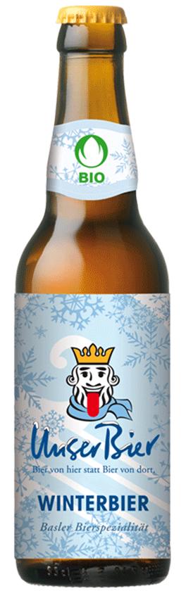 Bier Flasche Winterbier der Brauerei Unser Bier